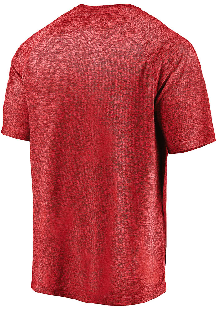 St Louis Cardinals Red Primary Logo Short Sleeve T Shirt - Image 2