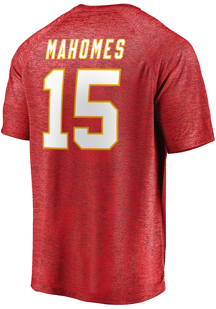 Patrick Mahomes Kansas City Chiefs Red Authentic Stack Short Sleeve Player T Shirt - Image 1