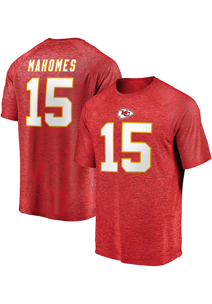 Patrick Mahomes Kansas City Chiefs Red Authentic Stack Short Sleeve Player T Shirt - Image 3