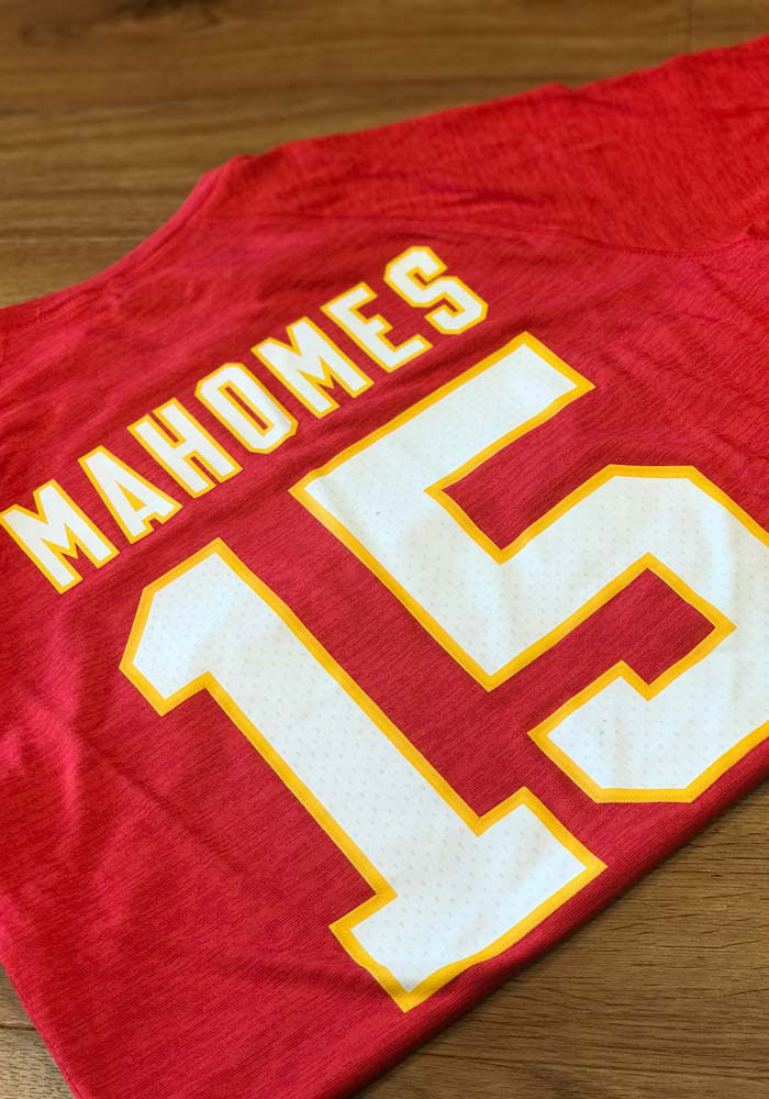 Patrick Mahomes Kansas City Chiefs Red Authentic Stack Short Sleeve Player T Shirt - Image 4