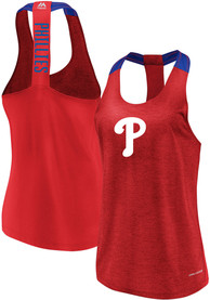 Philadelphia Phillies Womens Majestic Desire More Tank Top - Red