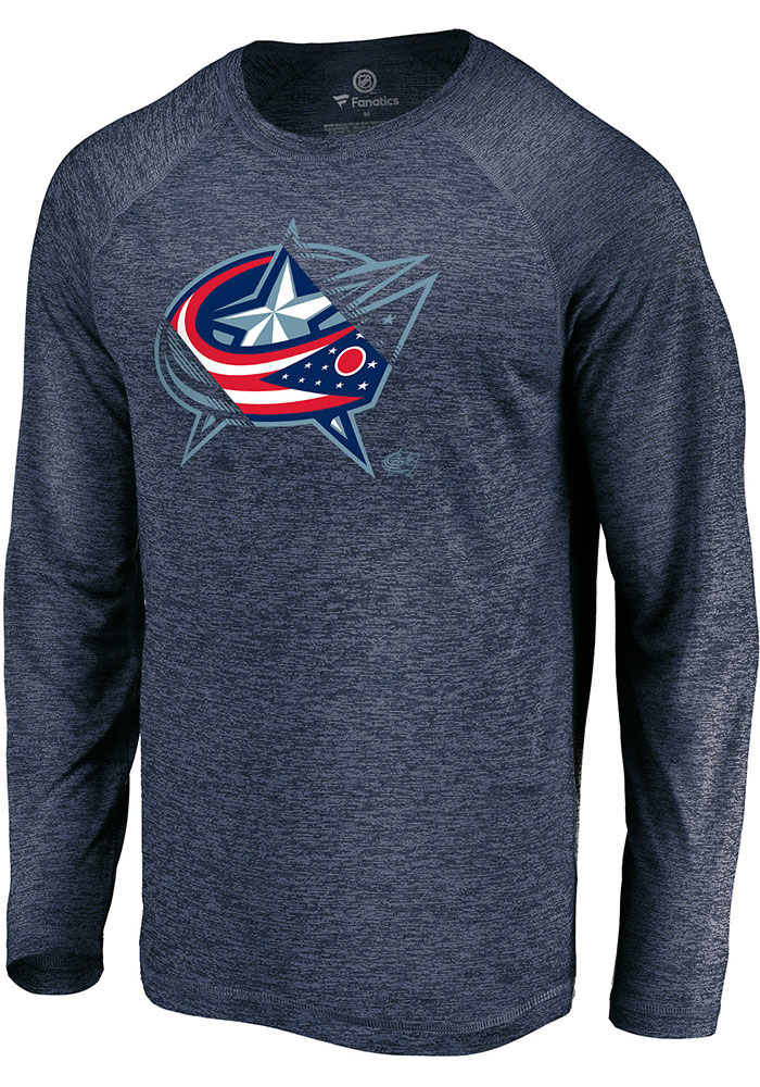 Columbus Blue Jackets Navy Blue Vital To Success Long Sleeve T-Shirt - Image 1