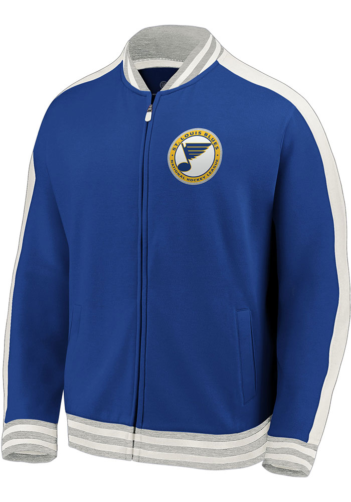 St Louis Blues Mens Blue Circle Note Track Jacket - Image 1