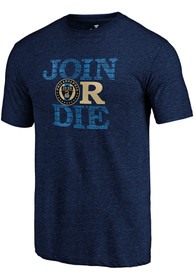 Philadelphia Union Join Or Die Fashion T Shirt - Navy Blue