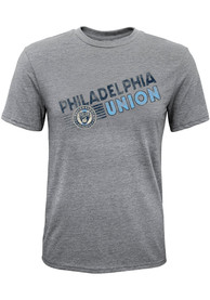 Philadelphia Union Diagonal Name Fashion T Shirt - Grey