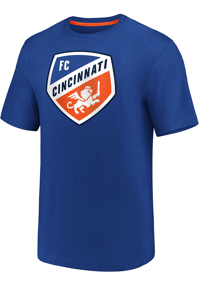 FC Cincinnati Blue Iconic Clutch Short Sleeve T Shirt - Image 1