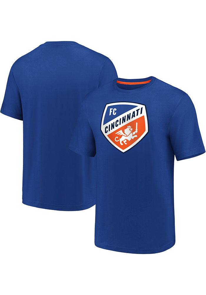 FC Cincinnati Blue Iconic Clutch Short Sleeve T Shirt - Image 3