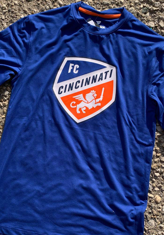 FC Cincinnati Blue Iconic Clutch Short Sleeve T Shirt - Image 4