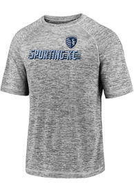 Sporting Kansas City Iconic Striated T Shirt - Grey