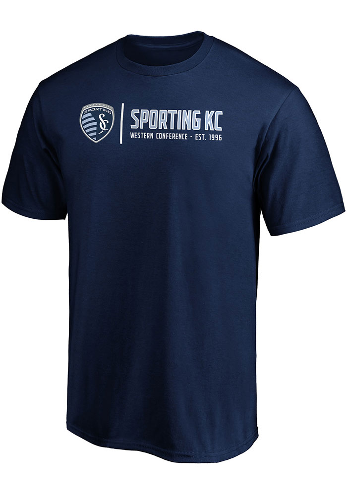 Sporting Kansas City Iconic Team Confidence T Shirt - Navy Blue