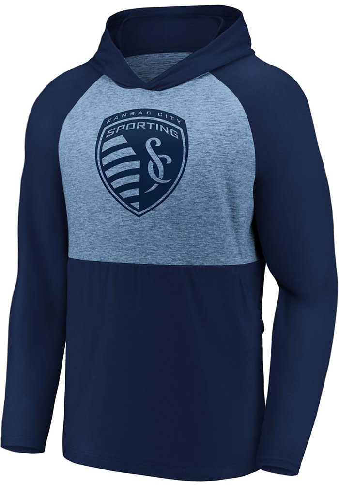 Sporting Kansas City Mens Navy Blue Iconic Marble Clutch Hood - Image 1