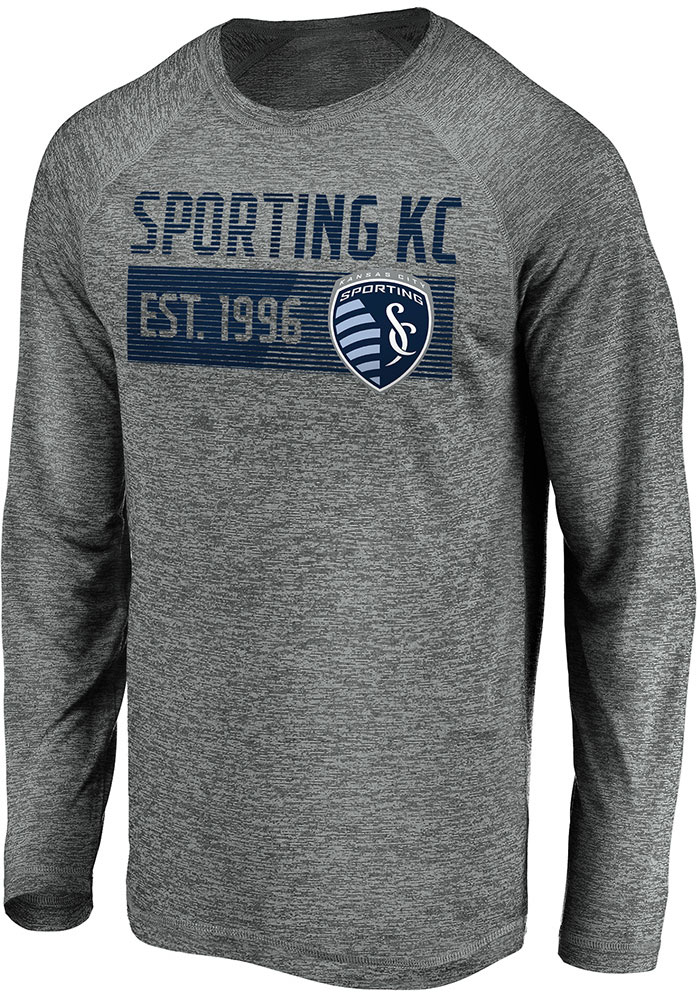 Sporting Kansas City Grey Striated Stack Fade Long Sleeve T-Shirt - Image 1