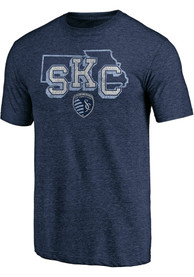Sporting Kansas City Tri State Fashion T Shirt - Navy Blue