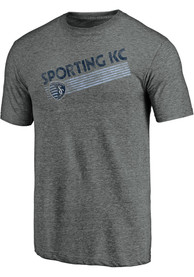 Sporting Kansas City Retro Speed Fashion T Shirt - Grey