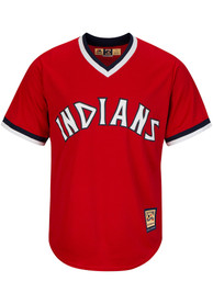 Cleveland Indians Majestic 73-77 Alternate Cooperstown - Red