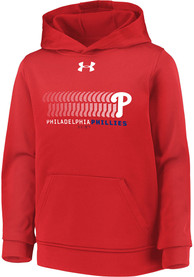 Philadelphia Phillies Youth Under Armour javascript:void(help) Hooded Sweatshirt - Red