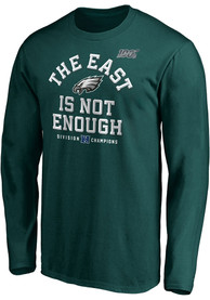 Philadelphia Eagles 2019 NFC East Champions Cover Two T Shirt - Midnight Green