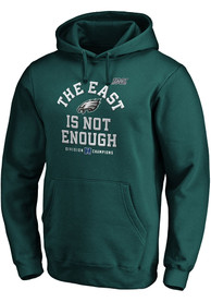Philadelphia Eagles 2019 NFC East Champions Cover Two Hooded Sweatshirt - Midnight Green