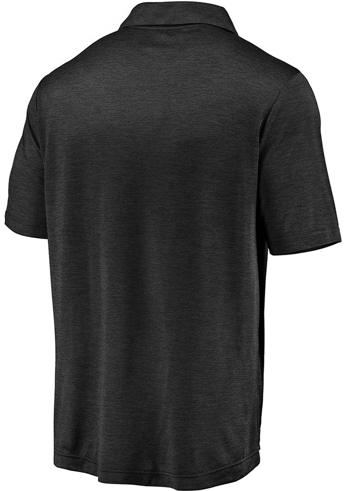 Kansas City Chiefs Mens Black Striated Primary Short Sleeve Polo - Image 2