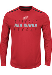 Majestic Detroit Red Wings Red Quick Whistle Long Sleeve T-Shirt