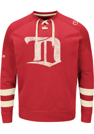Detroit Red Wings Majestic Vintage Centre Fashion Sweatshirt - Red