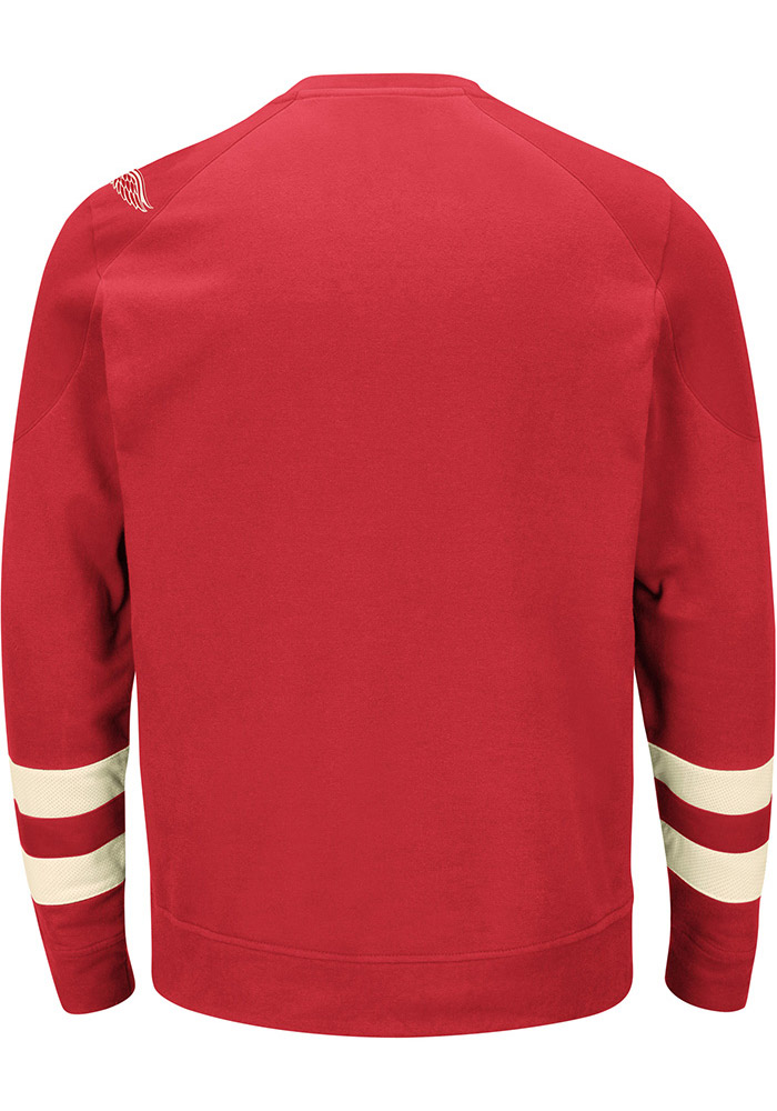 Majestic Detroit Red Wings Mens Red Vintage Centre Long Sleeve Fashion Sweatshirt - Image 2