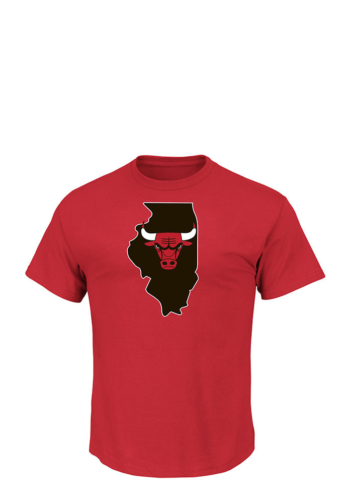 Derrick Rose Chicago Bulls Mens Red Record Holder Short Sleeve Player T Shirt - Image 2