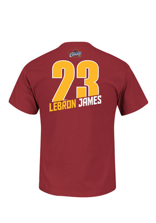LeBron James Cleveland Cavaliers Mens Maroon Record Holder Player Tee