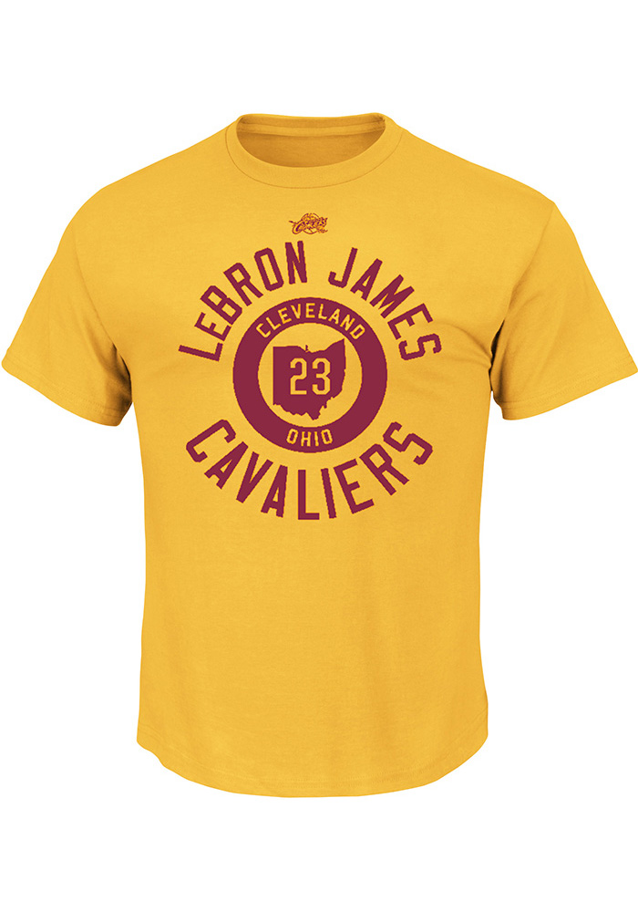 LeBron James Cleveland Cavaliers Mens Gold Sacrifice Short Sleeve Player T Shirt - Image 1