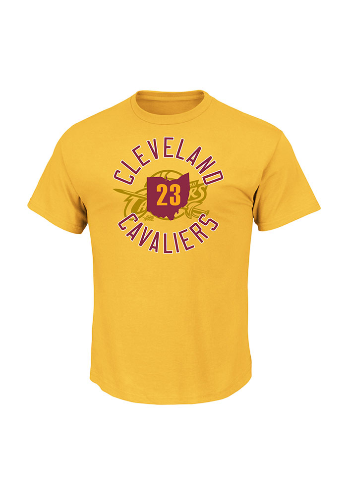 LeBron James Cleveland Cavaliers Mens Gold Sacrifice Short Sleeve Player T Shirt - Image 2