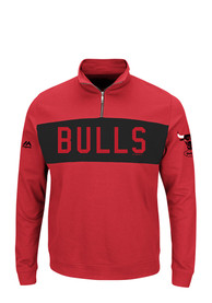 Chicago Bulls Majestic Limelight 1/4 Zip Pullover - Red