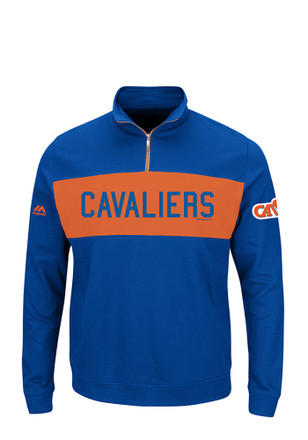 Majestic Cleveland Cavaliers Mens Blue Limelight 1/4 Zip Pullover