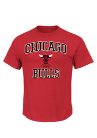 Majestic Chicago Bulls Red Heart and Soul Tee