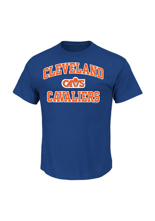 Majestic Cleveland Cavaliers Mens Blue Heart and Soul Tee