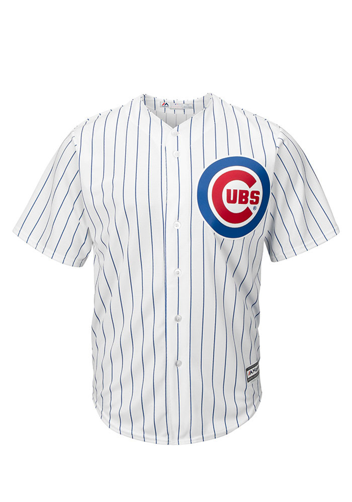 Chicago Cubs Mens Majestic Replica Player Jersey - White - Image 1