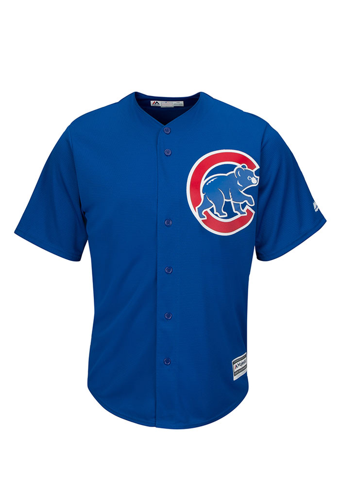 Chicago Cubs Mens Majestic Replica Alternate Jersey - Blue - Image 1