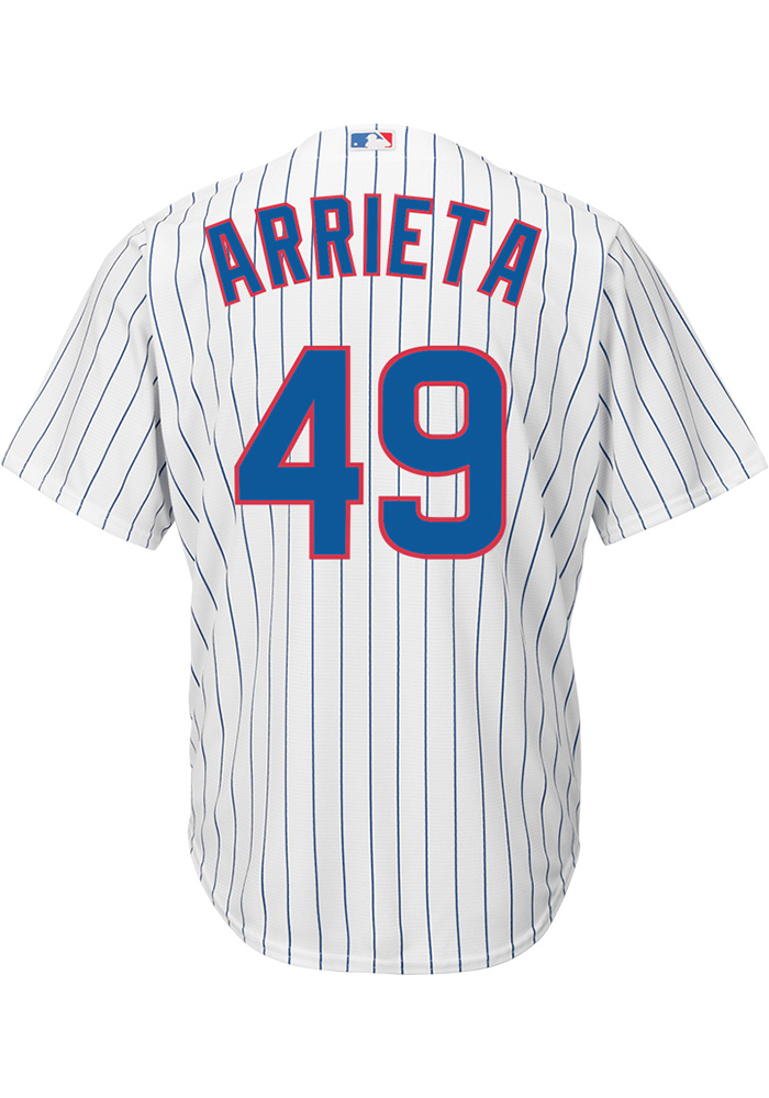 Jake Arrieta Chicago Cubs Mens Replica Home Jersey - White - Image 1