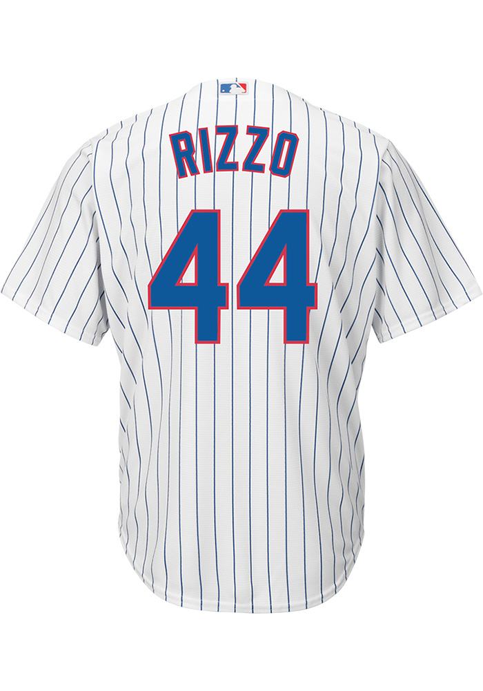 new style 39f08 f7fb2 Anthony Rizzo Chicago Cubs Mens Replica Home Jersey - White