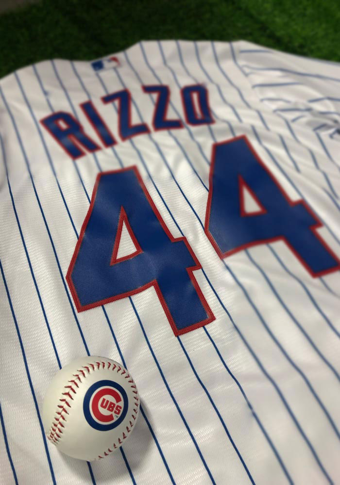 Anthony Rizzo Chicago Cubs Mens Replica Home Jersey - White - Image 3