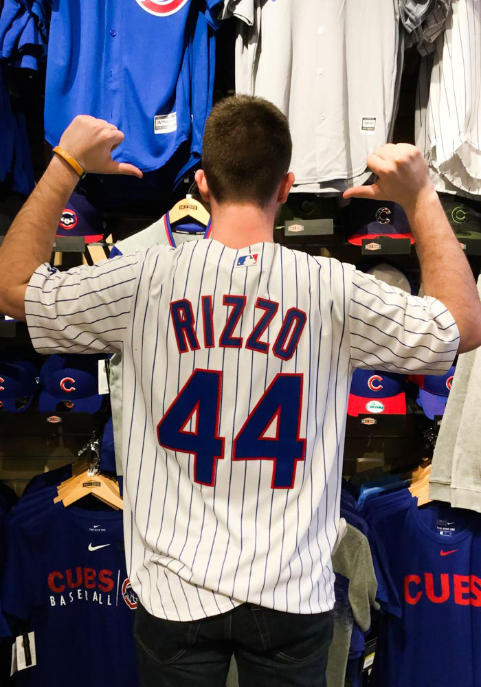 Anthony Rizzo Chicago Cubs Mens Replica Home Jersey - White - Image 4
