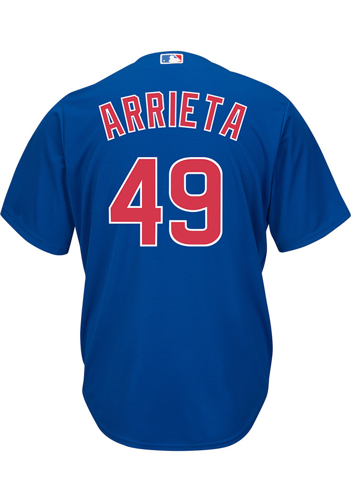 Jake Arrieta Chicago Cubs Mens Replica Alternate Jersey - Blue - Image 1