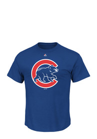 Majestic Chicago Cubs Blue Official Logo Tee