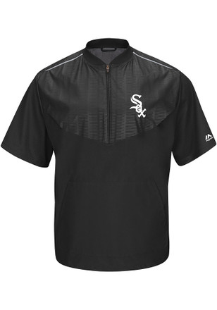 Majestic White Sox Mens Black Cool Base Gamer Windbreaker