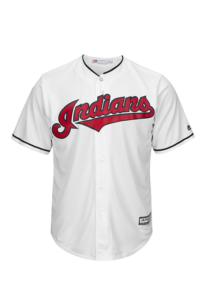 Cleveland Indians Mens Majestic Replica Player Jersey - White - Image 1