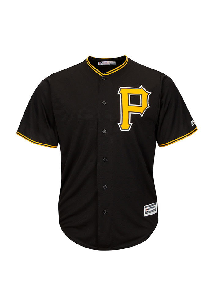 Majestic Pittsburgh Pirates Mens Black Alternate Big and Tall Jersey -  Image 1 71c2de822