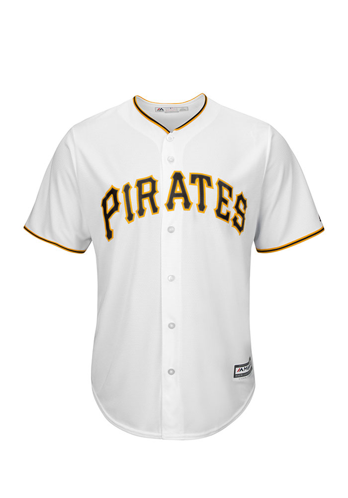 Pittsburgh Pirates Mens Majestic Replica Player Jersey - White - Image 1