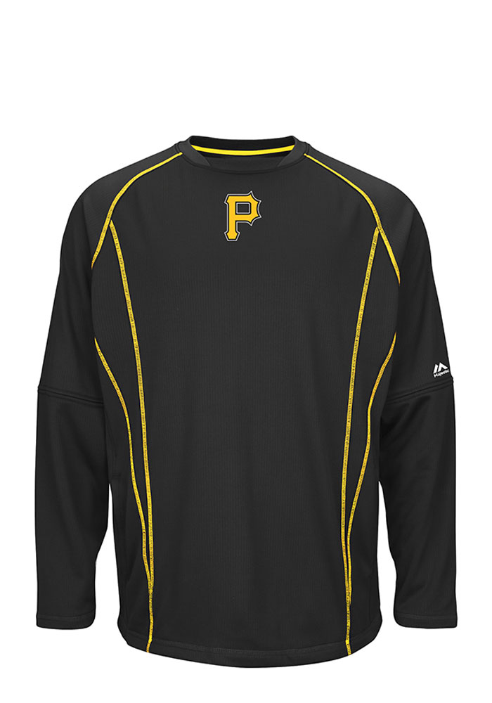 Majestic Pittsburgh Pirates Mens Black On-Field Pullover Jackets - Image 1