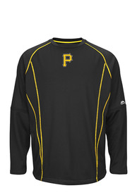 Pittsburgh Pirates Majestic On-Field Pullover Jackets - Black