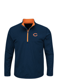 Majestic Chicago Bears Navy Blue Scoreboard 1/4 Zip Pullover