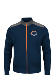 Chicago Bears Majestic tee Light Weight Jacket - Navy Blue